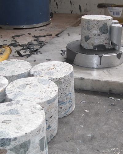 karot beton numune alımı